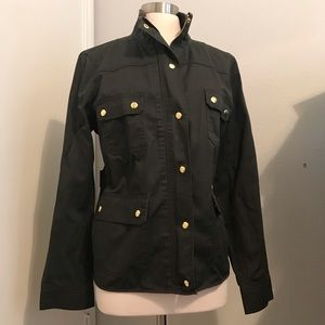 Olive green jacket with gold hardware NWT